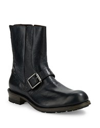 John Varvatos Lincoln Moto Leather Boots Mineral Black