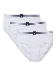 Nautica Cotton Fly Front Brief Set Of Three White