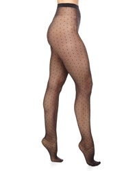 Wolford Daria Dot Pattern Sheer Tights