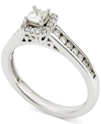 Macy's Diamond Halo Engagement Ring 1 2 Ct. T.W. In 14K White Gold