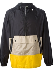 Msgm Colour Block Pull On Jacket Black