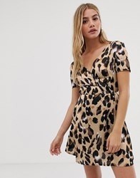 Parisian Leopard Print Dress Brown
