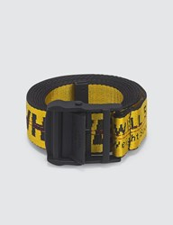 Off White Carryover Industrial Belt Yellow