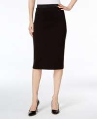 Alfani Below Knee Pencil Skirt Only At Macy's Deep Black
