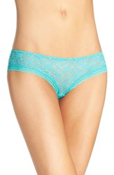 Free People Women's Lace Hipster Briefs Turquoise