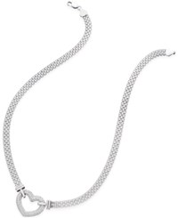 Giani Bernini Pave Heart Pendant Necklace In Sterling Silver