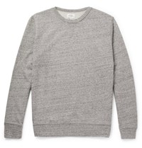 Hartford Melange Loopback Cotton Jersey Sweatshirt Gray