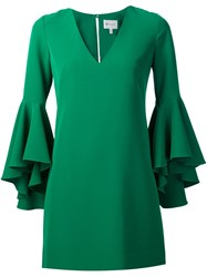 Milly Ruffle Sleeves Dress Green