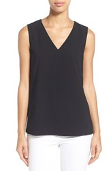 Women's Halogen Sleeveless V Neck Top Black