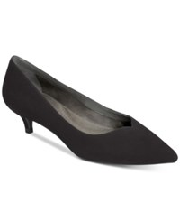 Aerosoles Dress Code Kitten Heel Pumps Women's Shoes Black Suede