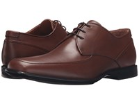 Aquatalia By Marvin K Xenon Nut Leather Men's Lace Up Moc Toe Shoes Brown