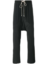 Rick Owens Drawstring Long Trousers Black