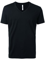 Attachment V Neck T Shirt Men Cotton 3 Black
