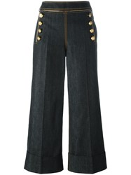 Tommy Hilfiger Straight Cropped Trousers Black