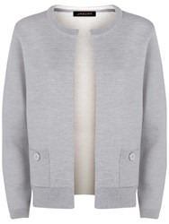 Jaeger Button Detail Cardigan Light Grey Melange