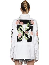 Off White M65 Embroidered Canvas Field Jacket