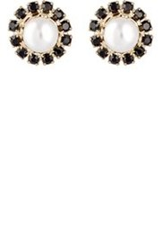 Givenchy Double Sided Embellished Stud Earrings Colorless