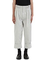 J.W.Anderson Oversized Pleated Denim Balloon Pants Grey
