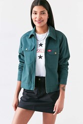 Dickies Twill Zip Front Coach Jacket Green