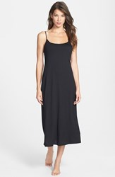 Women's Natori 'Shangri La' Scooped Back Knit Gown Black