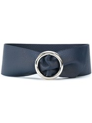 Orciani Round Buckle Belt Leather Blue