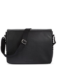 William Rast Faux Leather Messenger Bag Black