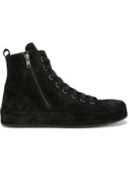 Ann Demeulemeester High Top Sneakers Black