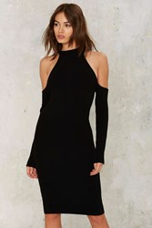 Take It Away Mock Neck Dress Black