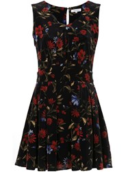 Guild Prime Floral Mini Dress Polyester Polystyrene Black
