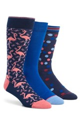 Ted Baker London Tinse 3 Pack Socks Blue Multi
