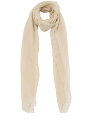 Faliero Sarti Venusia Modal And Mohair Blend Scarf Gold