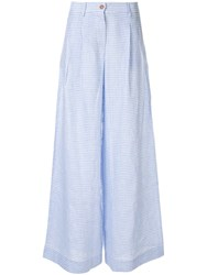 Jejia Checked Wide Pants White