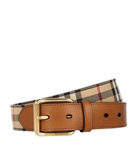 Burberry Shoes And Accessories Classic House Check Belt Unisex Brown