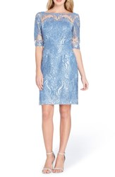 Tahari Sequin Sheath Dress Periwinkle