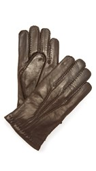 Hestra Edward Sheepskin Wool Lined Gloves Dark Brown