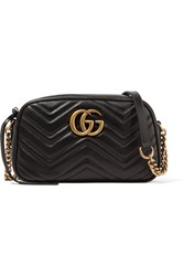 Gucci Gg Marmont Quilted Leather Bag Black