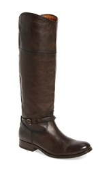 Frye Women's Melissa Seam Boot Brown Extended Leather