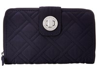Vera Bradley Turn Lock Wallet Classic Navy Wallet Handbags