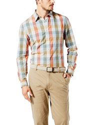 Dockers Check Laundered Cotton Poplin Slim Fit Shirt Rob