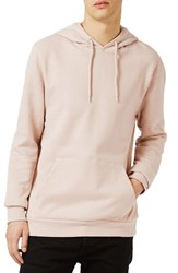 Topman Men's Classic Fit Pullover Hoodie Shell Pink
