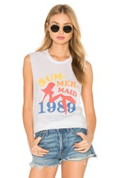 The Laundry Room Sum Mer Maid Muscle Tee White