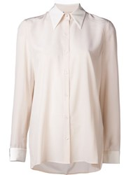The Row Back Pleat Blouse White