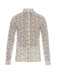 Richard James Butterfly Print Cotton Shirt