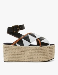 Marni Wedge In Lily White Black White Black