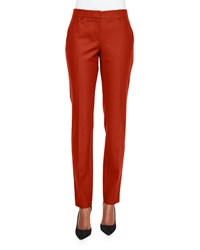 Theory Trecca Straight Leg Dress Pants Size 8 Red