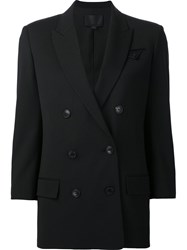 Alexander Wang Double Breasted Blazer Black
