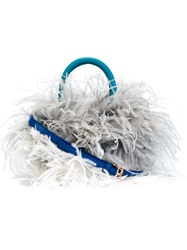 Just Cavalli Feather Tote Blue