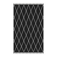 Beaumont Black Stone Abstract Diamond Vinyl Floor Mat