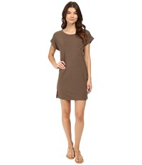 Culture Phit Adie T Shirt Dress With Pocket Olive Women's Dress