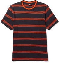Paul Smith Ps By Striped Cotton Jersey T Shirt Blue